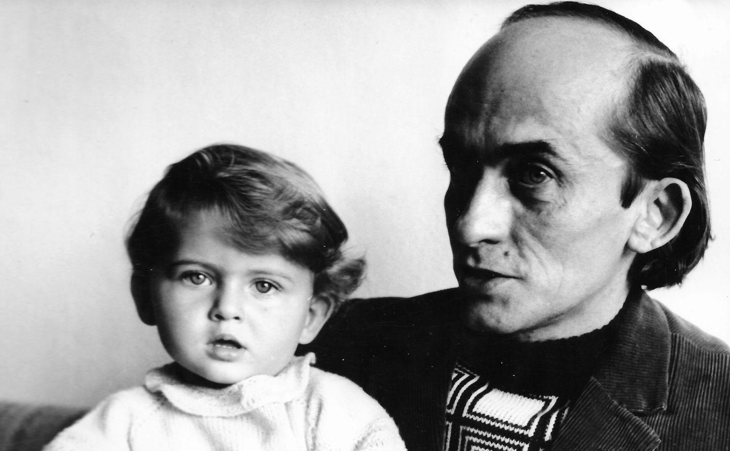 Jerzy Ficowski z córką Anną